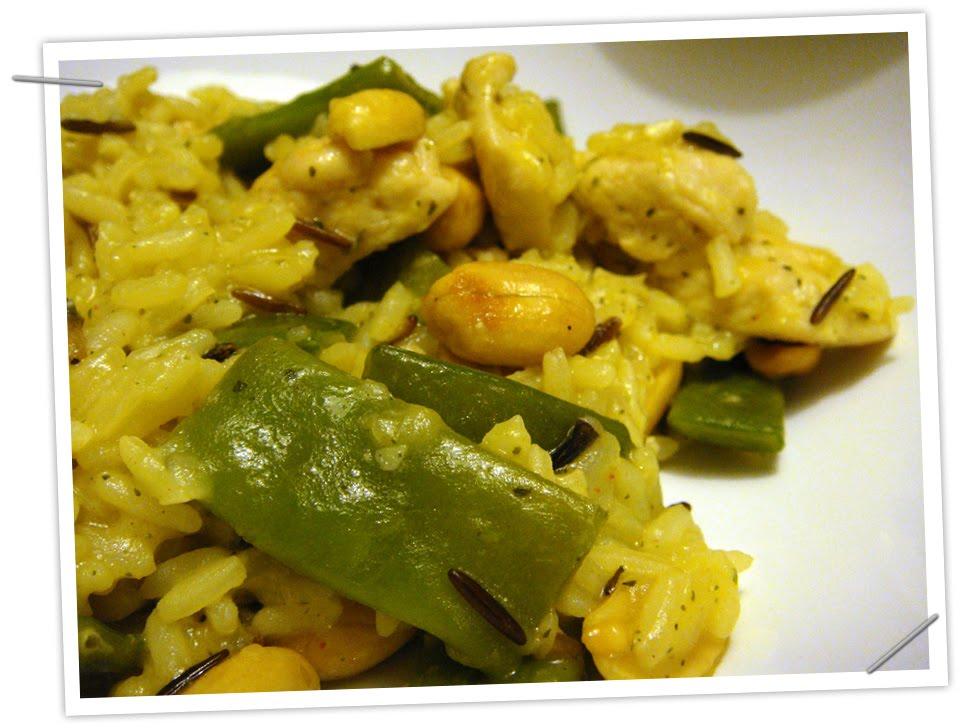 Recetas manga rosa risoto de arroz salvaje y pollo con for Cocinar judias verdes
