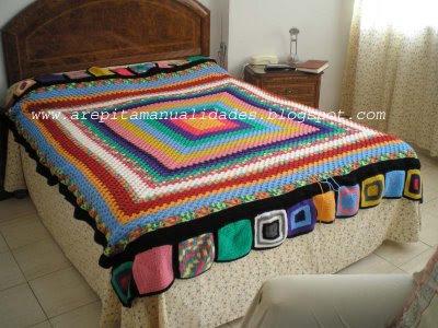 Canci n de la vida profunda mi nuevo proyecto una manta - Aplicaciones de crochet para colchas ...