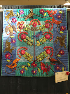 "Gerri Bobnar - ""Earth and Twig"" hand applique"