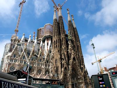 La Sagrada Familia, Barcelona, by Antoni Gaudi