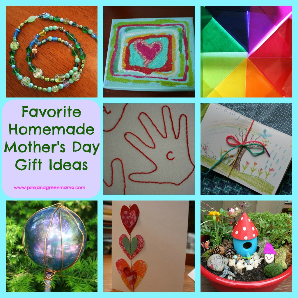 Pink and green mama homemade mother 39 s day gift ideas for Homemade mothers day gifts from toddlers