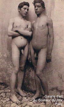 Vintage nude boy photography