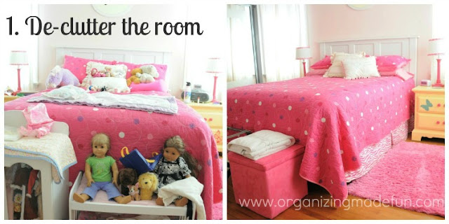 Declutter the room :: OrganizingMadeFun.com