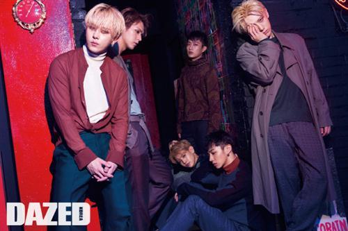 Boyband Korea BEAST Pemotretan Bersama Majalah Dazed