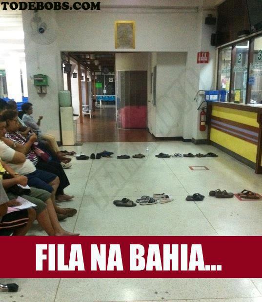 fila Fila na Bahia
