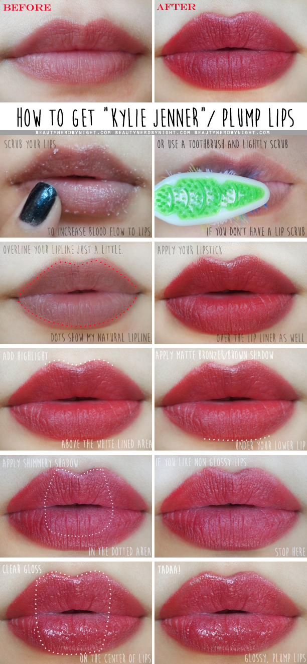 Pictorial: How to Get Kylie Jenner Lips   Beauty Nerd By Night