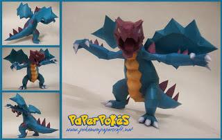 Pokemon Druddigon Papercraft - Dragon Model