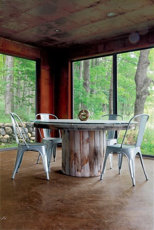 11 mesas hechas con bobinas de cable ideas eco
