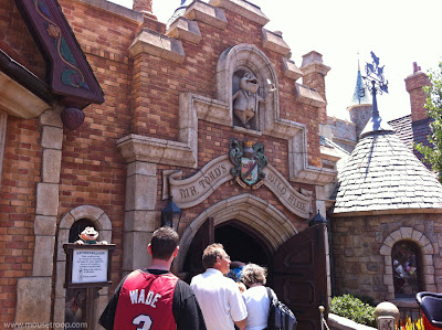 Mr. Toad's Wild Ride Disneyland entry front Toad Hall doors