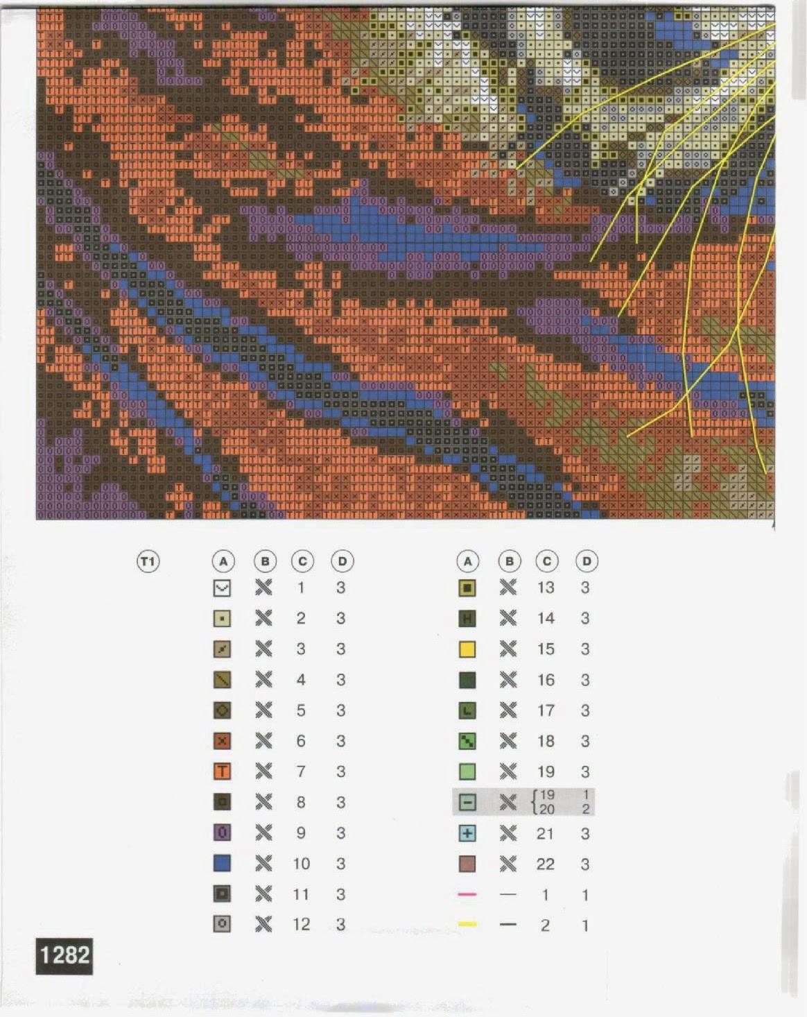 вышивка крестом схема амурские тигры