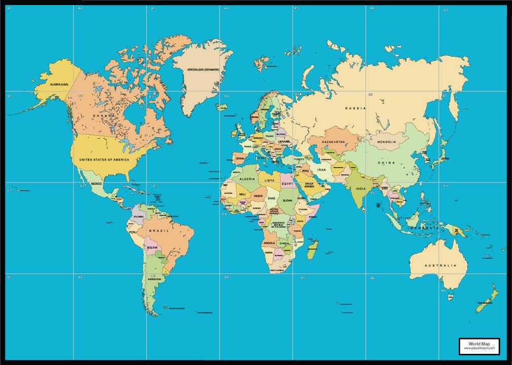 Free World Map Mural