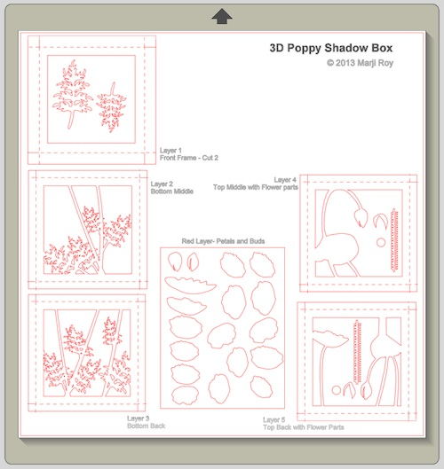 ashbee design silhouette projects 3d poppy shadow box silhouette