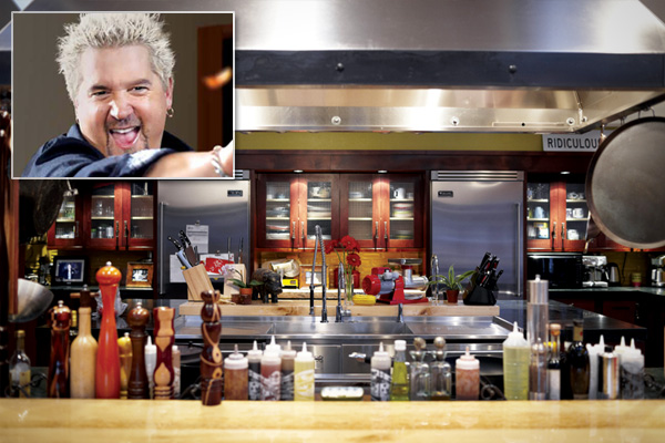 Amazing Spaces Blog The Home Kitchens Of Famous Chefs. Surprising Guy Fieri  Outdoor Kitchen Design ...