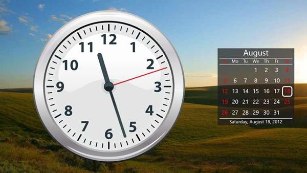 Календарь и часы на рабочей стол