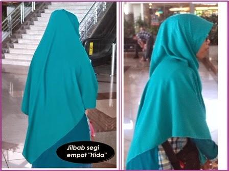 jilbab segi empat syari tebal lebar