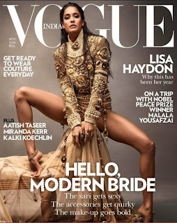 Lisa Hydon on Cover Page of Vogue India November 2014