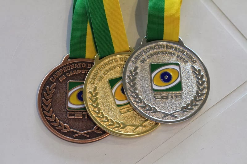 Medalhas do Campeonato Brasileiro de Carabina, Pistola e Rifle - Tiro Esportivo - Foto: Ramon Correa/CBTE