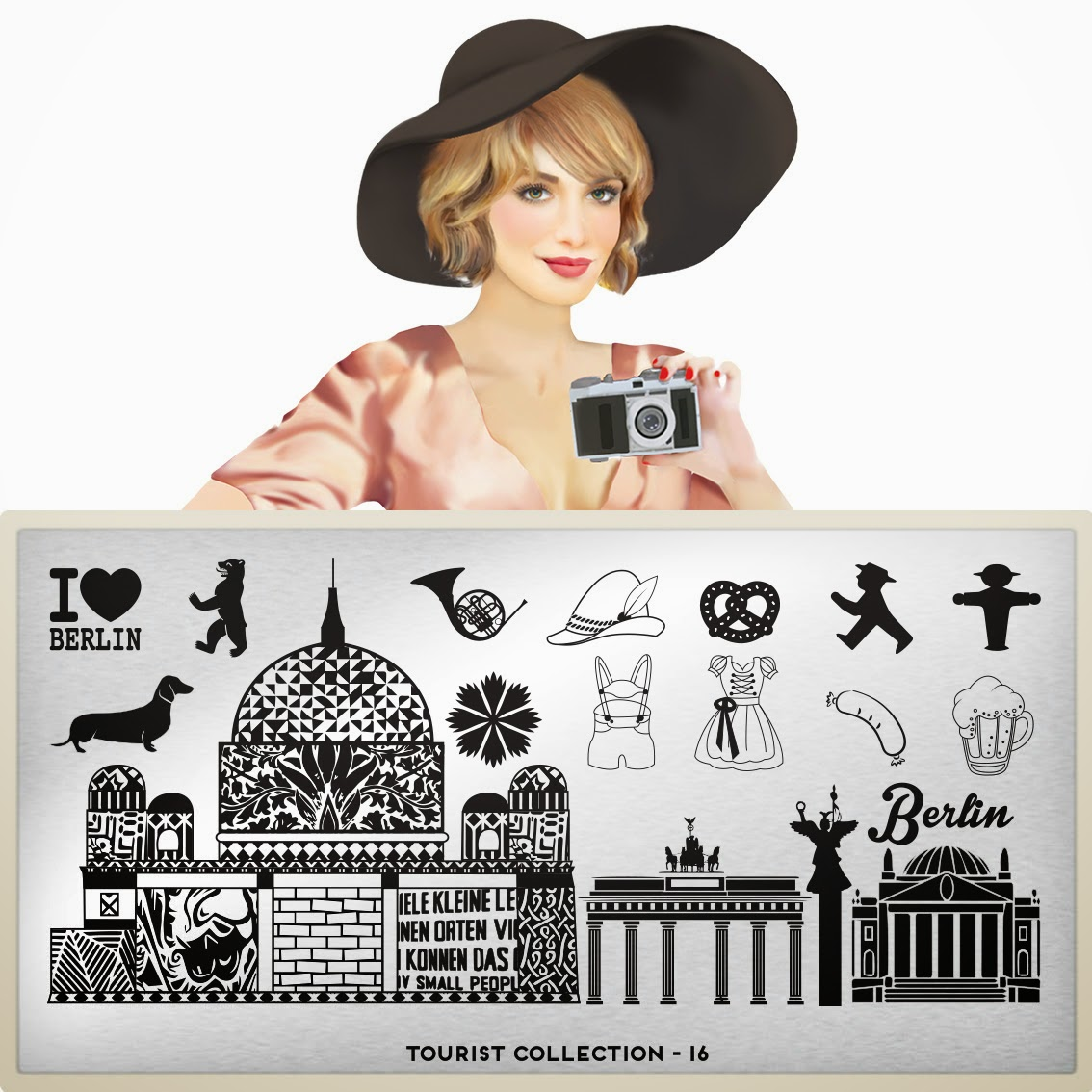 Lacquer Lockdown - MoYou London, MoYou London Tourist Collection, stamping, nail art, new stamping plates 2014, new image plates 2014, new nail art plates 2014, cici and sisi, hawaii themed nail art, vacation nail art, vacation nails, cute naiil art ideas, diy nail art,  germany themed nail art, germany themed stamping plates