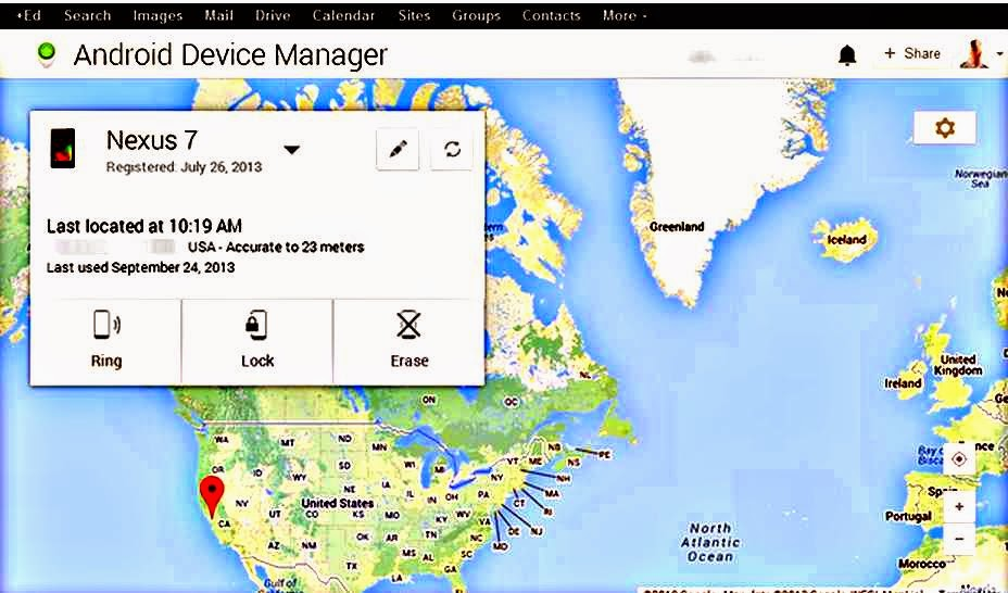 Remotely Lock or Reset your lost or stolen Android device with Android Device Manager.