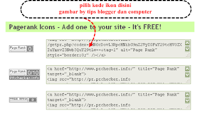 cara mendapatkan kode ikon google pagerank