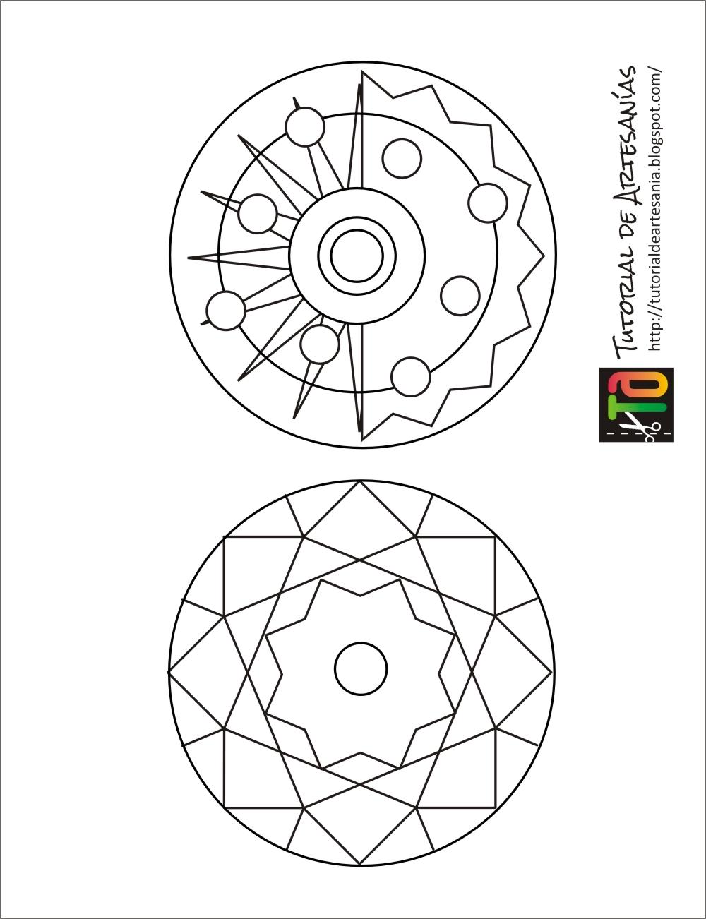 Moldes de Tutorial de Artesanías para imprimir y calcar.