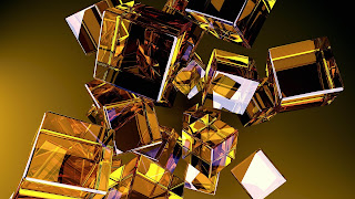 Abstract golden boxs
