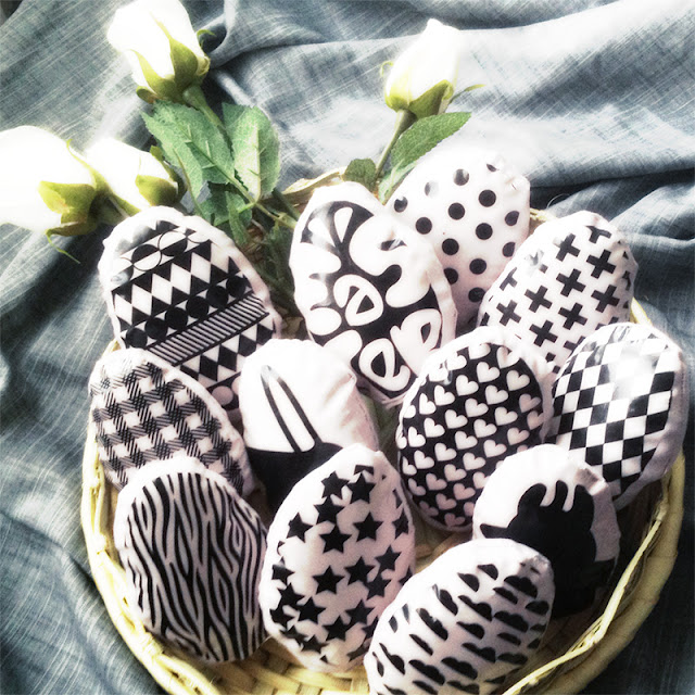Oeufs de Pâques Tissu - Fabric Easter Eggs - Tyg påskägg