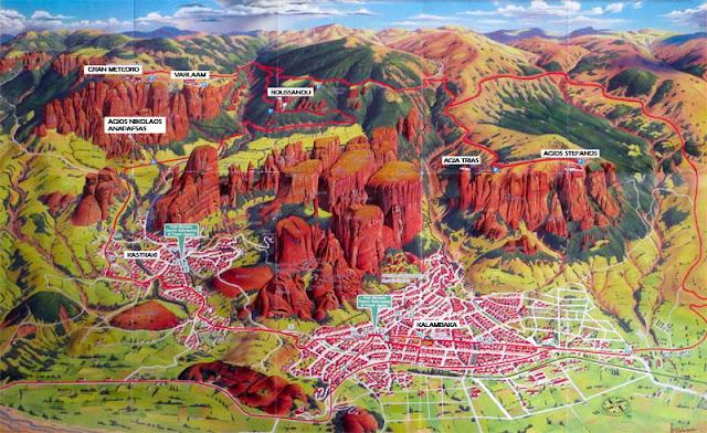 Viajaresvida - Mapa de Meteora