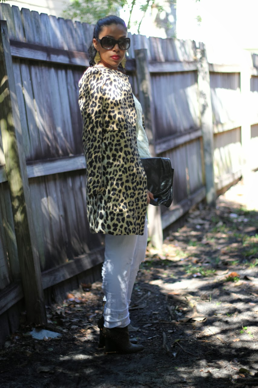 leopard coat bcbgmaxazria wane ankle boots gold studded