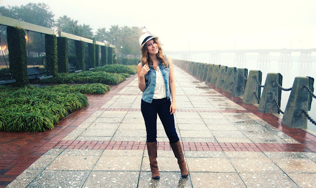 Fedoras, Women's fedoras, Fergie boots, Loft Denim, Levi's jean vest, curly hair, bruno mars, bridges