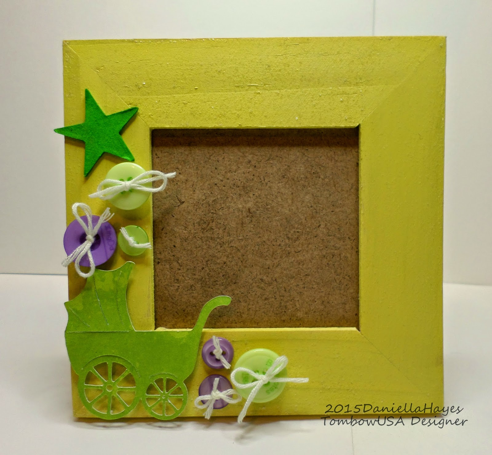 Easy diy decorated picture frame for baby tombow usa blog create your own diy decorated picture frame for baby with these easy steps jeuxipadfo Choice Image