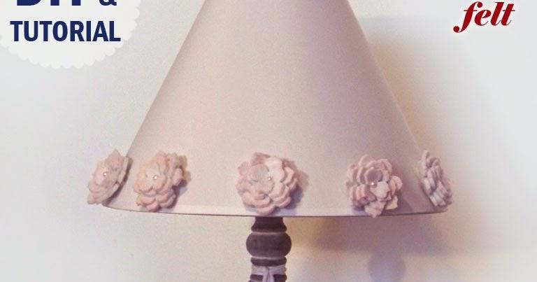 HOBBYBEL creatività: LAMPADA SHABBY CHIC fai da te con FIORI DI FELTRO e GESSETTI PROFUMATI ...