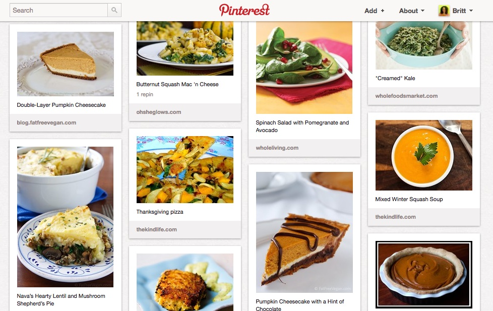 Meatless Dishes This Week So Instead Of Posting My Photos And Recipe Notes Im Including A Link To My Vegetarian And Vegan Thanksgiving Idea Board