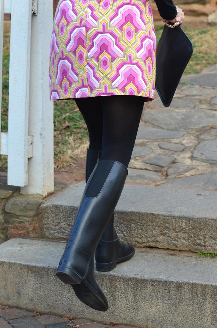 Cadett Plain Black Rain Boots