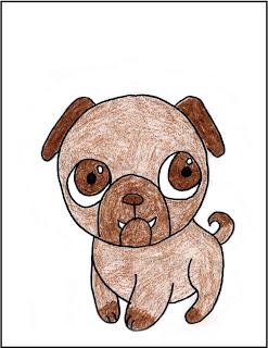steps to draw a dog