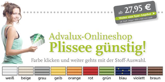 Maßgefertigtes Wunschplissee günstig bei Advalux.de auswählen bestellen