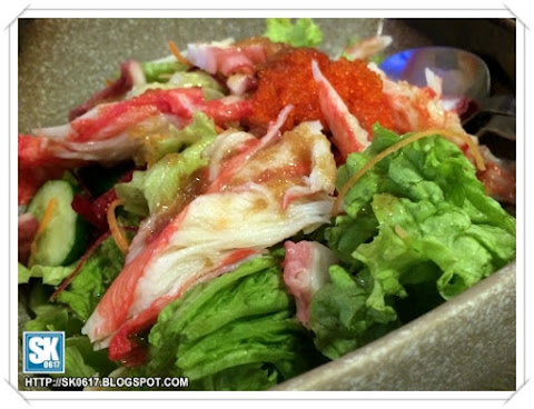 Crab meat salad
