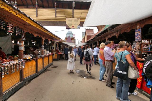 Puestos en el Mercado de Izmailovo