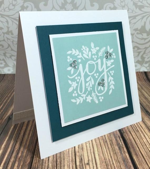 Simple Stamped Joy card