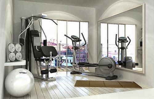 Deco gimnasio en casa fitness chicness - Gimnasios en casa ...