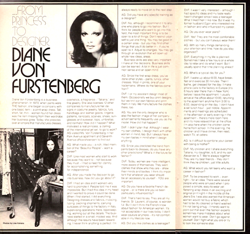 Mod and Mint: Vintage 1970s Interview Diane Von Furstenberg
