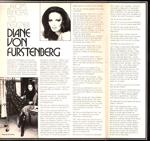Mod and Mint: Vintage 1970s Interview Diane Von Furstenberg
