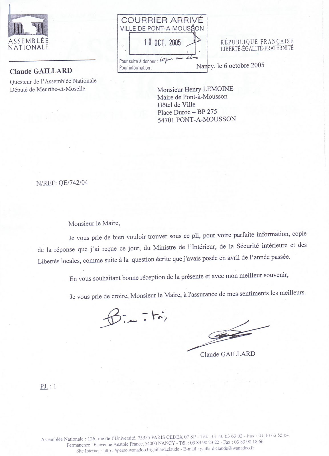 courrier candidature chsct