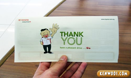 toyota thank you
