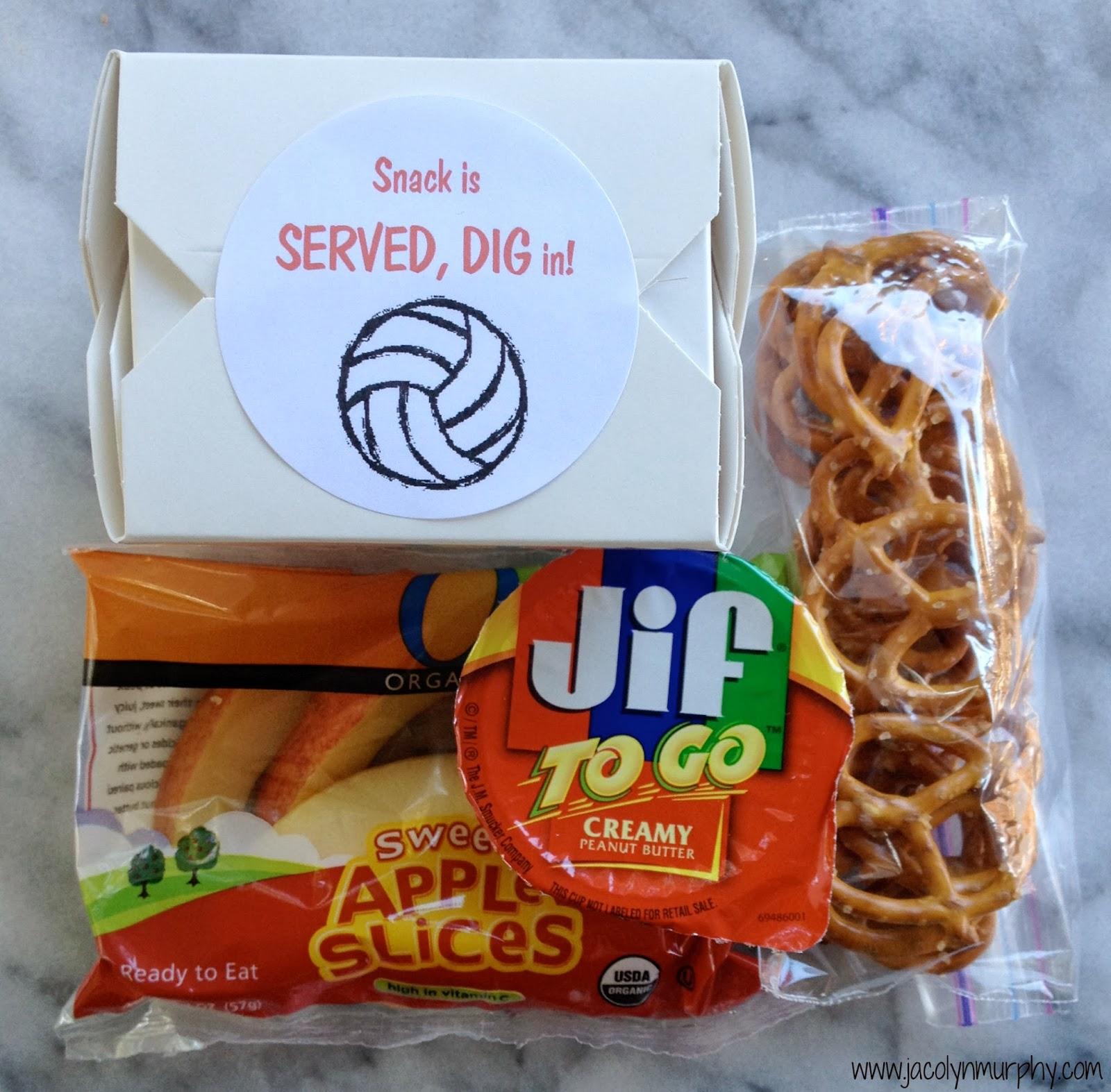 Jac o 39 lyn murphy my new job volleyball snack mom - Cuisine soort ...