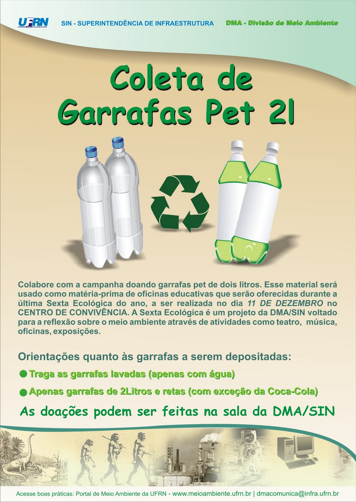 RECICLA AS SUAS GARRAFAS PET