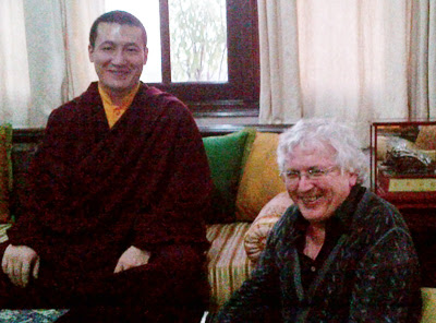 Lama Jampa Thaye with His Holiness Karmapa