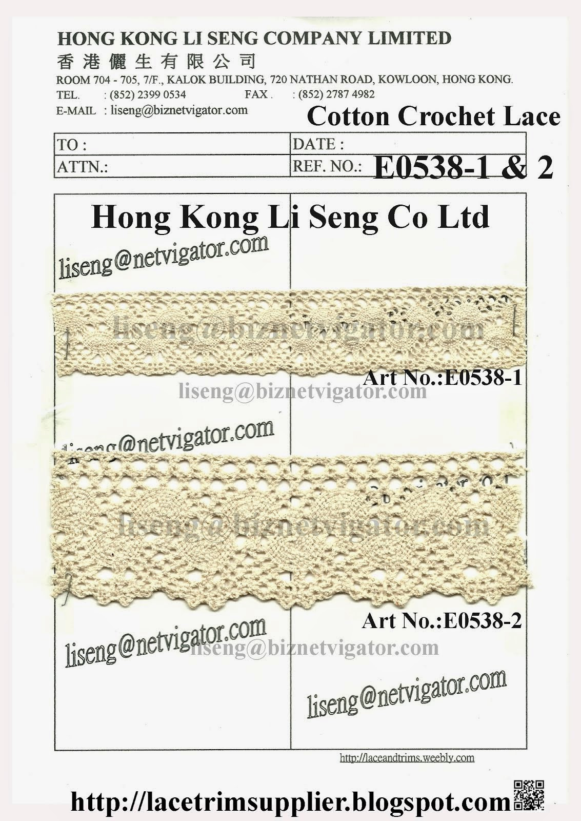 The Best Cotton Crochet Lace Trims Factory - Hong Kong Li Seng Co Ltd