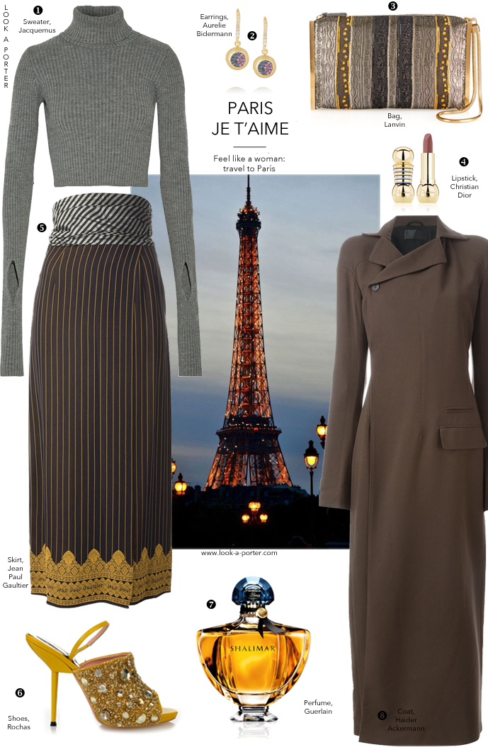 Styling a vintage skirt from Gaultier with latest collections from Jacquemus, Margiela & Rochas via www.look-a-porter.com style & fashion blog