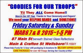 3-6/7/8 Goodies For Our Troops